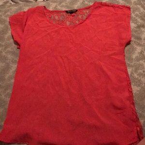 Pretty pink lace back shirt